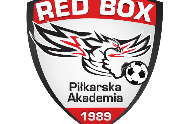 Logo RED BOX Piłkarska akademia w wersji kolorowej